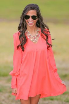 love the statement necklace and dress. Maybe for color day?