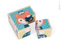 Drewniane klocki-puzzle 6w1 (4 elem.) - las - MamaGama: SPRAWDZONE i przydatne akcesoria dla mam i dzieci.