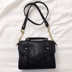 ASOS - SCALLOP TRIM SATCHEL BAG Black satchel. Magnet closure. (No trades) ASOS Bags Crossbody Bags