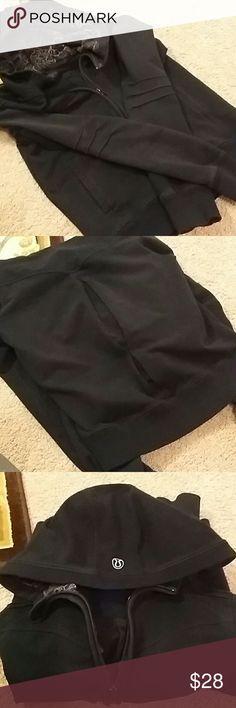 Lululemon Black Full Zip Hoodie Used, slight fade from wash lululemon athletica Jackets & Coats