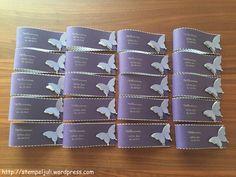 Servietten-Manschetten Serviettenring Schmetterling Glitzer Stampin Up Kommunion Taufe Hochzeit Tischdeko