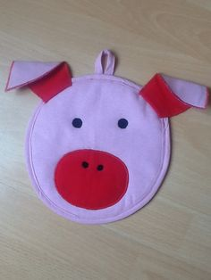 Pig potholder from Vardenis Sewing