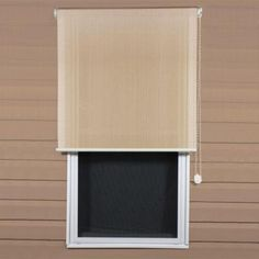 Coolaroo 10ft X 8ft Walnut Cordless Exterior Window Roller Shade ...