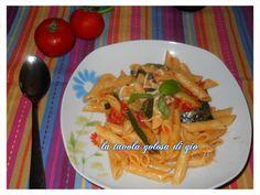 penne zucchine e pomodoro fresco