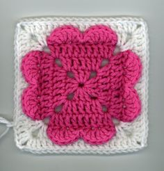 Four heart Valentine's Day granny square crochet pattern