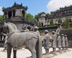 """Top 5 Things To See In Hue, Vietnam, And The Best Way To See them."" Doesn't this look like they're recommending that we look at the ass of all of the statues? Vietnam Tours, Hanoi Vietnam, Vietnam Travel, Asia Travel, Vietnam Vacation, Laos, Places To Travel, Places To See, Timor Oriental"