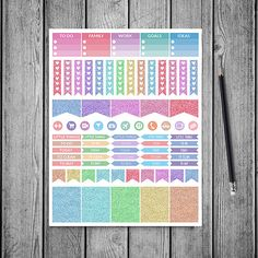 Types Of Planners, Work Goals, Heart Patterns, Different Patterns, Life Planner, Craft Items, Planner Stickers, Erin Condren, Stationery