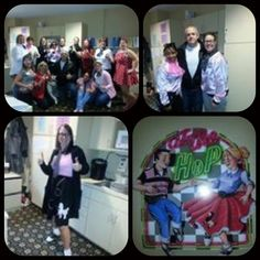 """The staff at Juniper Village at Forest Hills was all thumbs up for their """" Back To The 50's Again Sock Hop"""" on Thursday, January 26 th ..."""