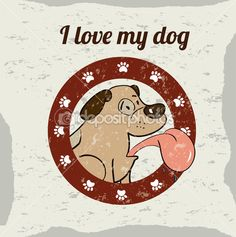 Quiero a mi perro — Ilustración de stock #32689615