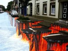 3D Street Art - I would flip out if I saw this in real life!