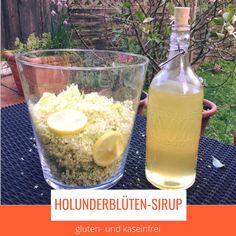DIY Holunderblüten-Sirup ganz einfach und schnell selber machen geeignet für die gfcf Diät bei Autismus Vegan, Food, Glutenfree, Simple, Essen, Meals, Vegans, Yemek, Eten