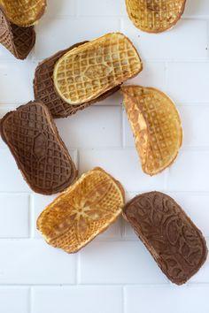 Vanilla & Chocolate Waffle Cone Tacos | siftandwhisk.com