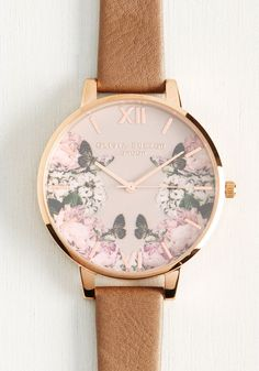 pretty little feminine floral watch