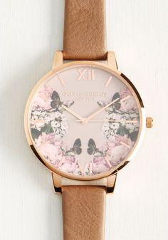pretty little feminine floral watch