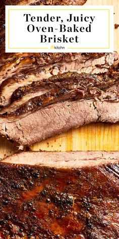 How To Cook Texas-Style Brisket in the Oven How To Cook Brisket, Beef Brisket Recipes, Smoked Beef Brisket, Whole Brisket Recipe, Brisket Meat, Steak Recipes, Brisket Marinade, Marinade Injector, Brisket Rub