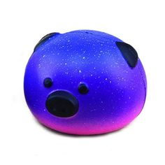 Dark Blue and Purple Cosmic Pig Squishy Toy