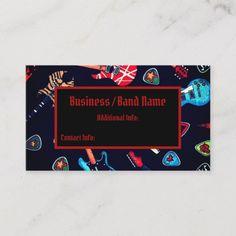 Shop Rock Guitar Musician Business Card created by BlueRose_Design. Business Card Design, Business Cards, Musician Business Card, Guitar, Things To Come, Rock, Create, Prints, How To Make