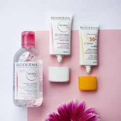Struggle with sensitive skin? You need our trio of products to combat sensitivity in the summer. Say goodbye to redness and reacitivity and enjoy soothed, protected and radiant skin. Seborrhoeic Dermatitis, Bioderma Sensibio, Micellar Water, Summer Skin, Radiant Skin, Sensitivity, Sensitive Skin, Perfume Bottles, Make Up