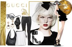 """Party in Gucci"" by i-t-chic ❤ liked on Polyvore"