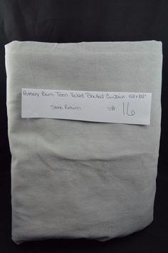 """Pottery Barn Teen Velvet Blackout Curtain Panel 1 Drape 52 x 84"""" Gray SR #16…"""