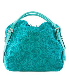 Another great find on #zulily! Teal Swirl Leather Hobo #zulilyfinds