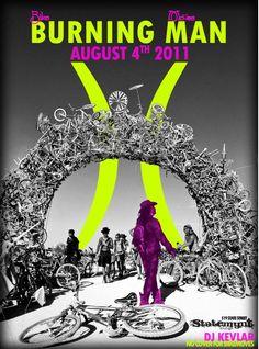 Burning Man Bicycle film Festival Poster.