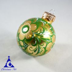 Christmas ornaments Khokhloma. Create a beautiful Christmas decorations, or decorate your Christmas tree with our Christmas balls.    We created for you unique christmas ornament with Russian folk art Khokhloma.  All our christmas balls created in Russia. In the production we use only high quality materials: Dutch Christmas balls, stained glass paint for painting small parts.  Ornament is made of glass, therefore, it requires careful handling. Do not drop, groot, not scratch. With careful…