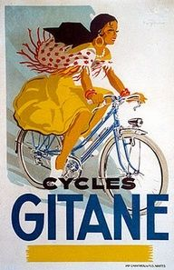 """ GITANE CYCLES"" of MACHECOUL, FRANCE ✺❃✿ ღ THE NAME GITANE, MEANS GYPSY WOMAN."