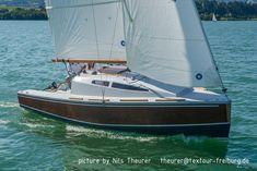 Idea 21 | Small plywood sport sailboat | SailBoat Plan Catamaran For Sale, Sailing Catamaran, Sailing Trips, Small Sailboats For Sale, Wooden Boats For Sale, Sailboat Plans, Wooden Sailboat, Sailboat Trailer, Sailboat Racing
