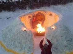 how to build a snow firepit - Google Search