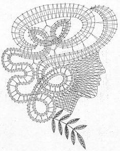 Crochet Diagram, Crochet Motif, Crochet Doilies, Bruges Lace, Romanian Lace, Bobbin Lace Patterns, Lacemaking, Lace Heart, Tatting Lace