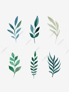 Plant Hand Drawn Wind Green Decorative Leaf Element, Leaf Clipart, Plant Flower, Hand Painted PNG Transparent Image and Clipart for Free Download