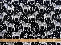 Baumwollstoff Michael Miller Midnight Train Zebras