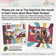 Spotlight On: Blueheartscraps - January 2017 Featured Designer Challenge