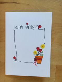 Watercolor Birthday Cards, Watercolor Christmas Cards, Watercolor Cards, Happy Birthday Cards Handmade, Greeting Cards Handmade, Cumpleaños Diy, Karten Diy, Birthday Wishes Quotes, Card Drawing
