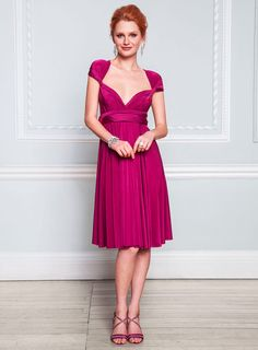 Fuchsia Short Twist & Wrap Dress - dresses - Women - BHS
