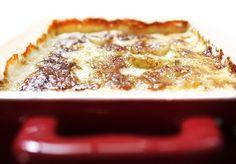 Batata assada gratinada com creme e queijo   DigaMaria