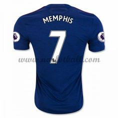 Billige Fotballdrakter Manchester United 2016-17 Memphis 7 Borte Draktsett Kortermet Memphis, Manchester United Trikot, Premier League, Arm, The Unit, Shopping, Tops, Soccer Jerseys, Beginning Sounds