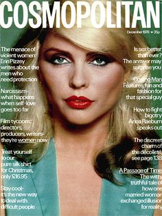 Debbie Harry for Cosmopolitan Magazine, December 1978.