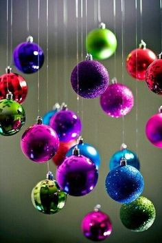 # Glorious Colourful Christmas Ornaments