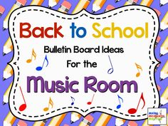 Bulletin board ideas for the music room: Great ideas for your music classroom! Music education ideas, activities, games, and songs Back To School Bulletin Boards, Preschool Bulletin Boards, Preschool Music, Teaching Music, Music Activities, Teaching Time, Physical Activities, Music Lesson Plans, Music Lessons