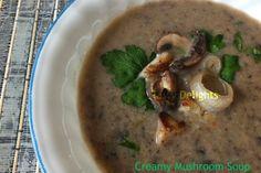 Creamy Woodland Mushroom Soup (dairy-free, vegan option)