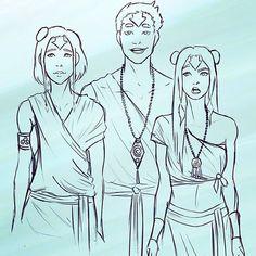 Jinora, Ikki, and Milo :)