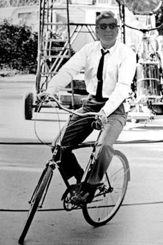 President Kennedy taking a ride on his bycicle #thekennedys #Jack #Jackie How have I never seen this before? UPDATE: I just realized it's fake