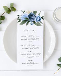 Wedding Menu Template, Bridesmaid Proposal Cards, Wedding Desserts, Wedding Invitations, Wedding Stationery, Floral Wedding, Colorful Backgrounds, Florals, Winter Princess