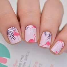 Flamingo nail art design | animal nails | flamingo nail design #nails #nailart