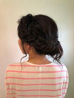 side bun with dark asian hair romantic hair