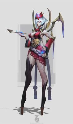 Elise Blood Moon Concept by Zeronis by Zeronis.deviantart.com on @DeviantArt