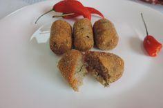 croquete de arroz com carne