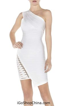 one shoulder bandage dress sale cheap from China wholesale shop